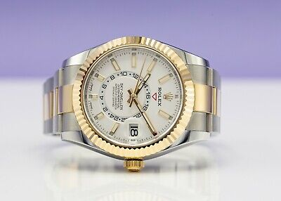 $ CDN27264.73 • Buy Rolex 326933 Sky-Dweller Gold And Steel White Dial 2021 Unworn Box Papers
