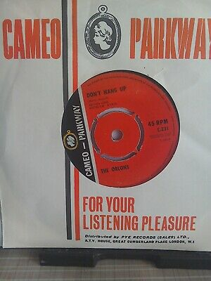£4.99 • Buy The Orlons...7 Inch Single....dont Hang Up...cameo Parkway...c231...1963..