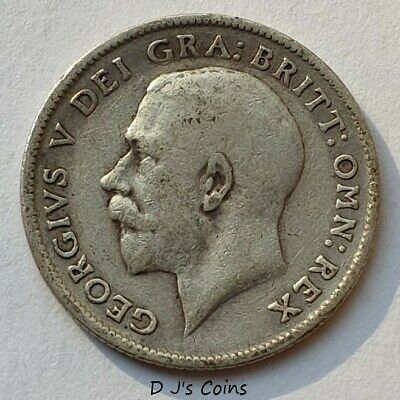 £9.49 • Buy 1919 King George V Silver .925 Sixpence Coin, Good Collectable Grade.