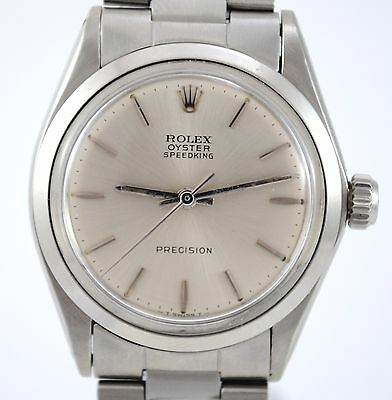 $ CDN2394.22 • Buy Rolex Vintage Oyster Speedking Precision Ref 6430 Caliber 1225 Steel Watch