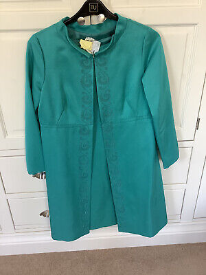 £45 • Buy Vintage 1960s  Jackie O  Style Dress And Coat, Green, Perfect For Revival Events