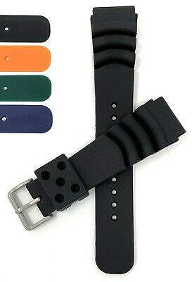 $ CDN14.60 • Buy  Bandini Mens Rubber Diver Watch Band, Ripples For Citizen & Seiko, 20mm, 22mm