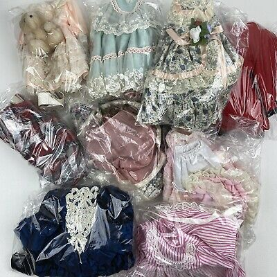 $ CDN25.40 • Buy Lot Of 9 Porcelain Doll Outfits Different Styles Dresses Accessories Crafts