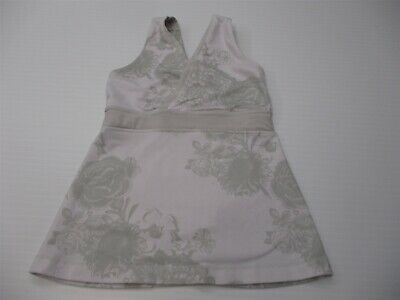 $ CDN24.25 • Buy LULULEMON Women's Size 0 Bra Support Gray/White Floral V-Neck Tank Top