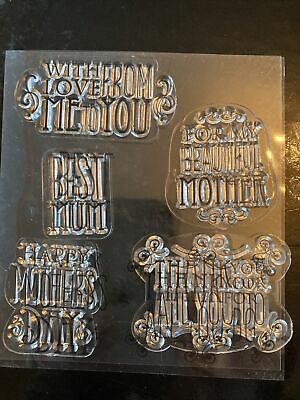 £0.99 • Buy Clear Stamps For Card Making - Mothers Day Messages (5)