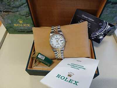 $ CDN9660.76 • Buy Rolex Datejust 16233 Gold And Steel Box And Papers 1998