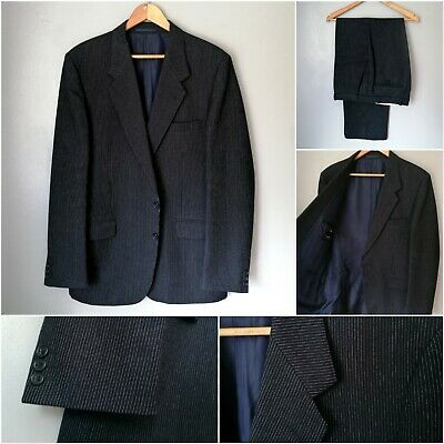 £39.95 • Buy HORNE BROTHERS Vintage Narrow Pinstripe Wool Suit Size 42 Long W38 L31 *vgc*