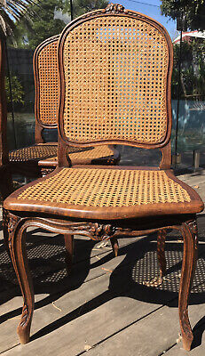 AU400 • Buy French Antique Caned Dining Chairs X 4