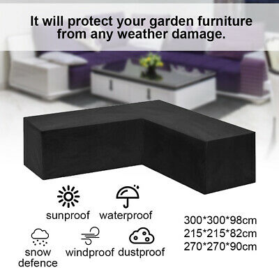 AU35.99 • Buy L Shape Outdoor Furniture Cover Waterproof Sofa Lounge Seat Couch Cover Garden