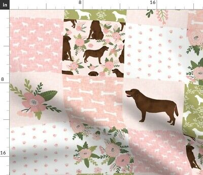 £8.32 • Buy Labrador Retriever Chocolate Lab Pet Quilt Spoonflower Fabric By The Yard