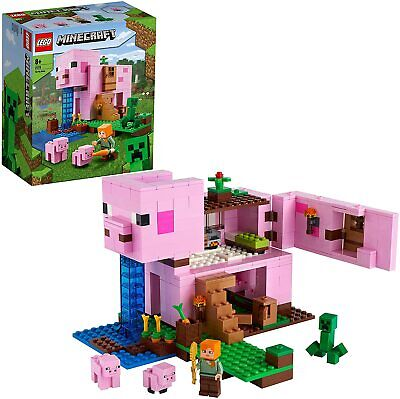 £42.99 • Buy LEGO 21170 Minecraft The Pig House Building Set With Alex And Creeper Figure