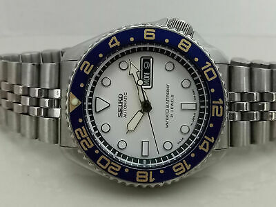 £28 • Buy Seiko Diver Submariner White Mod 7s26-0020 Skx007 Automatic Men Watch 760017