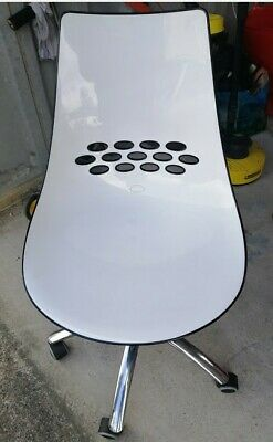 £65 • Buy Calligaris Jam Swivel Chair Black/white Vintage Retro Designer Italian