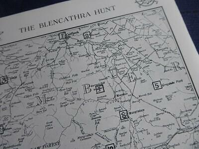 Blencathra Hunt Threlkeld Keswick 1931 Original Hunting Map & Meeting Details • 6£