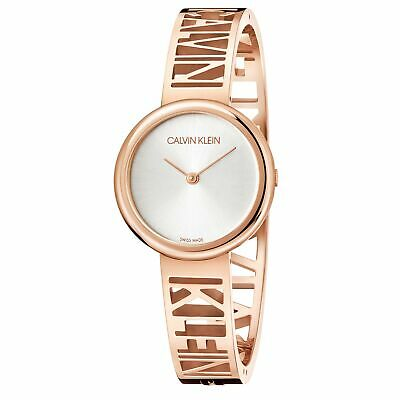 £229 • Buy Calvin Klein Mania Quartz Silver Dial Rose Gold Steel Bracelet Ladies KBK2M616