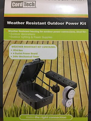 AU50 • Buy Cordtech Weather Resistant Outdoor Power Kit, 4 Outlet Power Board Abd 24hr Time
