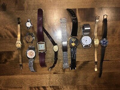 $ CDN7.93 • Buy LOT OF VINTAGE WRISTWATCH WATCH PARTS Or REPAIR