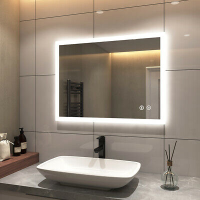 £132.99 • Buy Bathroom LED Mirror Lights With Shaver Socket Bluetooth Anti-Fog Touch Switch