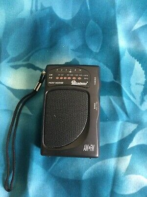 £3.50 • Buy AM FM Battery Operated Mini Portable Pocket Radio Receiver From ACADEMY