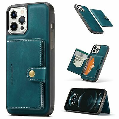 AU30.41 • Buy Back Cover Phone Case With Leather Card Holder For IPhone 12 11 Pro Max XS XR X