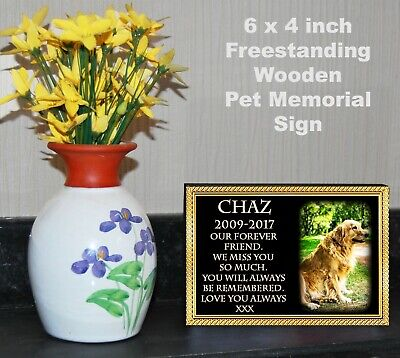 £7.90 • Buy Personalised Remembrance Plaque Photo Pet Dog Puppy Memorial Friends Gift Sign