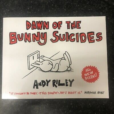 £4 • Buy Dawn Of The Bunny Suicides By Andy Riley Paperback Funny Books Joke Gag Gift