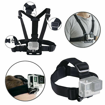 AU16.85 • Buy Harness Head + Chest Strap Mount Accessories For GoPro Hero 3 4 5 6 7 8 Camera