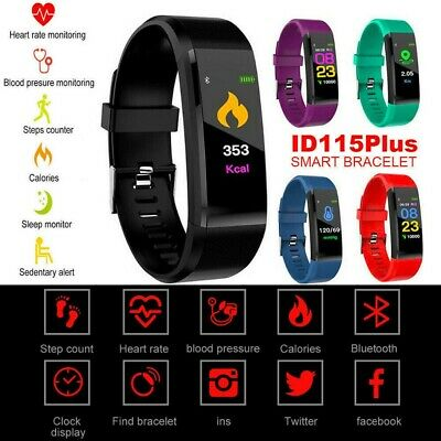 AU11.99 • Buy Fitness Smart Watch Activity Tracker Women Men Fitbit For Android IOS Heart Rate