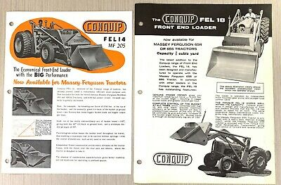 AU8.50 • Buy Old Conquip Fel 14 & 18 Front End Loader Tractor Brochure – Advertising, Industr