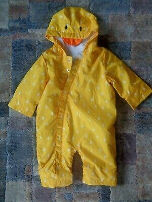 £15.99 • Buy M&S YELLOW DUCK  Fleece Lined  Puddlesuit Snow Suit Age 3-6 Months