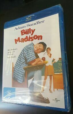 AU59.99 • Buy BILLY MADISON Blu-ray REGION A B C Adam Sandler NEW SEALED Comedy RARE OOP