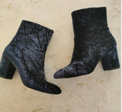 AU3.63 • Buy Alexa Chung Boots At Marks & Spencer.  Size 5 Ankle Boots.  Blue Suede.