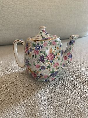 $ CDN60.66 • Buy Old Cottage Chintz Tea Pot, England Grimwades Royal Winton Ivory