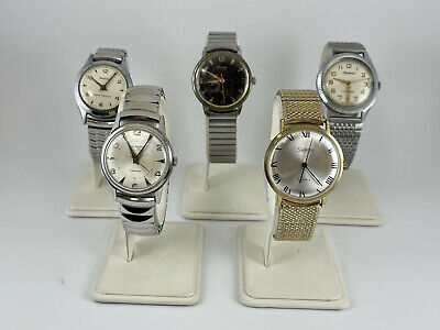 $ CDN21.17 • Buy Vintage Lot Of 5 Mechanical Men's Watches Parts / Repair