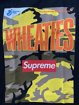 $ CDN68.16 • Buy Supreme Wheaties Tee T-shirt SS21 - Black - Large - BRAND NEW