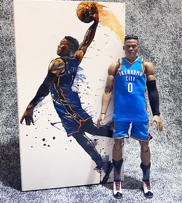 $56.99 • Buy Real NBA Masterpiece Collection Russell Westbrook 1/9 Action Figure New In Box