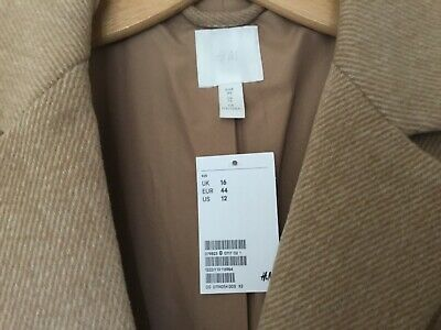 £10 • Buy H&m Camel Blazer Size 16/44,new With Tags