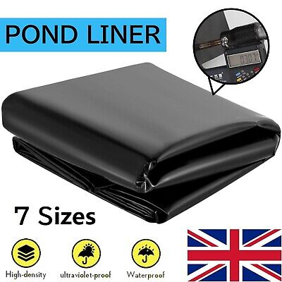 £12.99 • Buy Garden Fish Pond Liners Liner Pool HDPE Membrane Reinforced Landscaping 7 Sizes