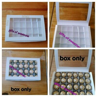 £2.50 • Buy L@@k*1 X  Empty Soft White Pelle Boxes With Acetate Window + Inserts  Readymade