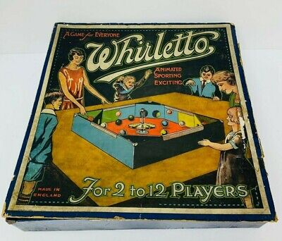 £49.99 • Buy Vintage Antique 1930s Board Game Whirletto ~ England - Old Toy Spinning Top