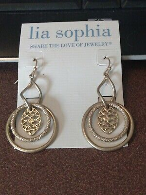 $ CDN7.25 • Buy Lia Sophia Brushed Gold Dangle Earrings