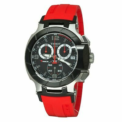 £228.73 • Buy Tissot T-Race Red Rubber Band Mens Chronograph New Watch T048.417.27.057.01