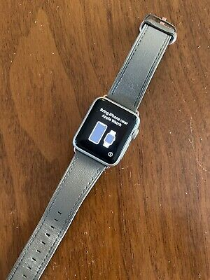$ CDN97.05 • Buy Apple Watch Series 3 38 Mm Silver Aluminum Case Leather Band