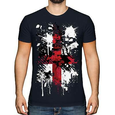£11.95 • Buy England St George Cross Abstract Print Mens T-shirt Top English Flag Georges Day
