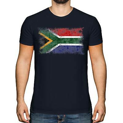 £9.95 • Buy South Africa Distressed Flag Mens T-shirt Top Suid-afrika Football African Shirt