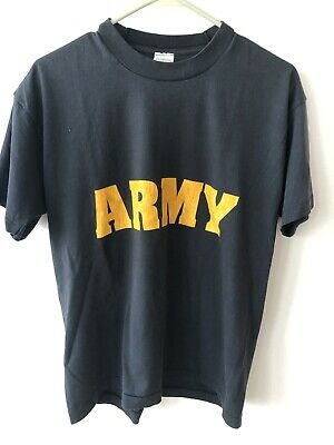 $ CDN20.61 • Buy Vintage 90s US ARMY Made In USA Single Stitch T Shirt L