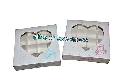 £8.50 • Buy *new* L@@k* Small Empty Sweet Boxes With Acetate Window + Inserts, 2 Designs