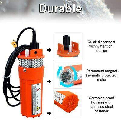 £85 • Buy 12V 70M Head Submersible Deep Well Solar Bore Water Pump Self-priming W Battery