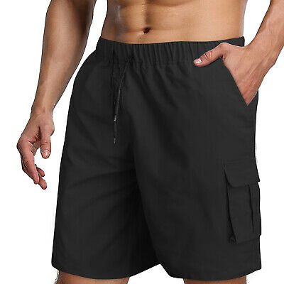 $19.98 • Buy Mens Cargo Cotton Shorts Work Casual Relaxed Fit Pocket