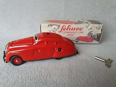 £159.99 • Buy Schuco Red Command 2000 Tinplate Car In Box